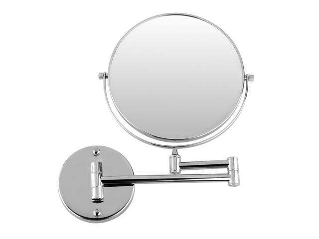 Chrome Finish 12 Inch Extension Two Sided Swivel Wall Mounted Mirror
