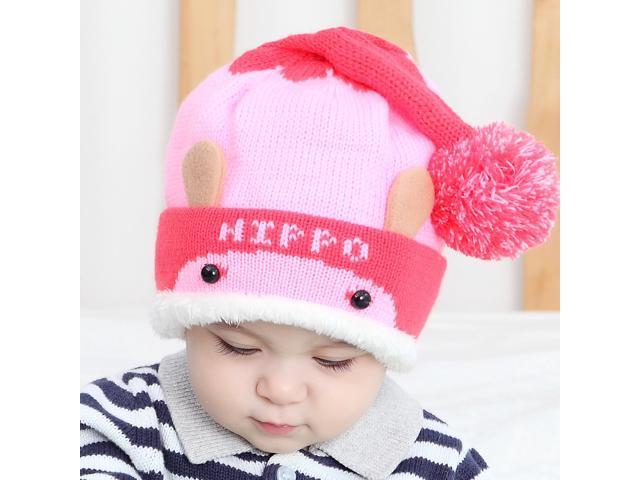 d2eb71c5f75 Kids Thick Hats Baby Infant Winter Warm Crochet Knit Hat Beanie Cap ...