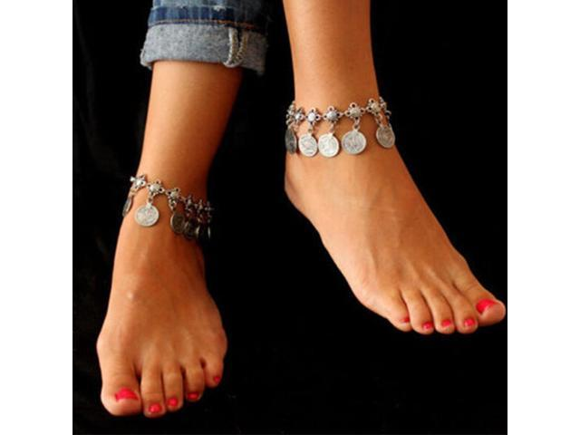 pas mal 817d9 5b86f Chaine Cheville Femme Foot Chain Gypsy Old Turkish Coin Silver Anklet  Bracelet Feet Chain Jewelry - Newegg.ca