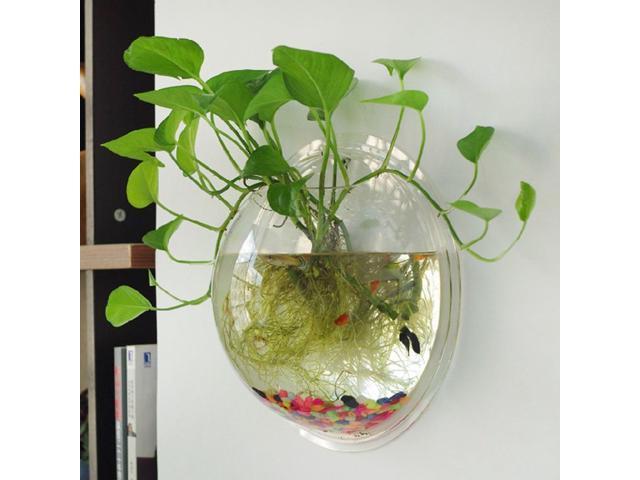 Glass Terrarium Hanging Flower Pot Glass Ball Vase Fish Tank Plants