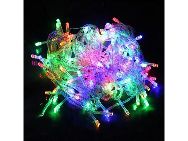 967bde9d85b 100M LED hada cadena guirnalda AC110V 220V impermeable Navidad luces de  patio trasero