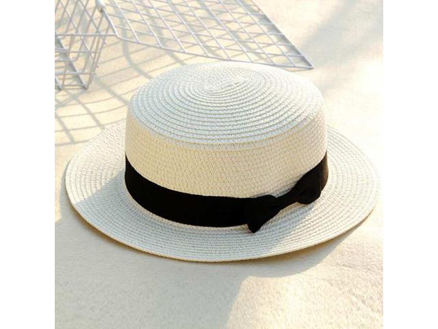 Female Sombreros Classic Black Girdle Jazz Hat Beach Hats for Women Sun  Protection Hat a97659bc398