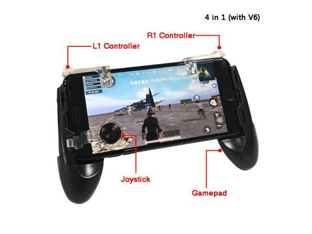 3ce0cba31 EC2WORLD 4 in 1 Phone PUBG Mobile Game Gamepad joystick with L1 R1 Trigger  Shoot Fire Button Aim Key + Touch Pad Joystick Controller