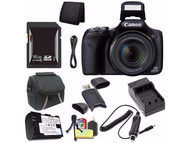 b84a2a757 Canon PowerShot SX530 HS Digital Camera (Black) (International Model No  Warranty) +