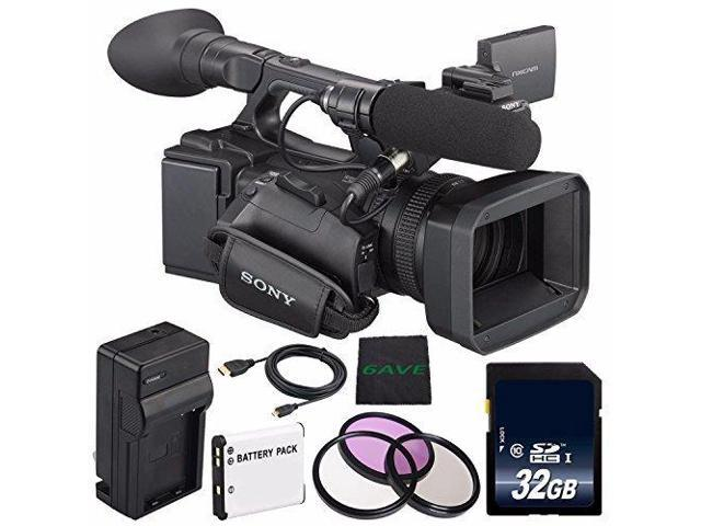 Sony HXR-NX5 Camcorder NXCAM Professional Camcorder + NP-F970 Rechargeable  Lithium Ion Battery + Charger Kit for Sony NP-F970 + 72mm 3 Piece Filter