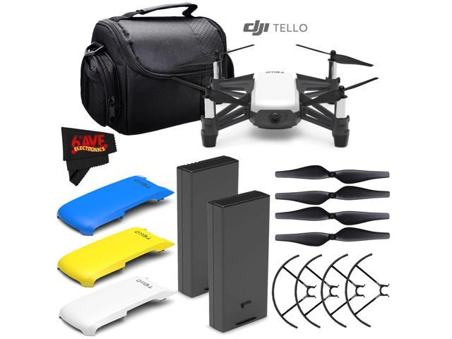 Ryze Tech Tello Quadcopter #CP PT 00000252 01 + Ryze Tech Snap-On Cover for  Tello (Blue) + Ryze Tech Snap-On Cover for Tello (Yellow) + Ryze Tech