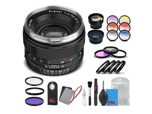 Zeiss Planar T* 50mm F/1 4 ZF 2 Lens for Nikon - 1767-825 with Cleaning  Accessory Kit and 2 Year Extended Warranty - Newegg com