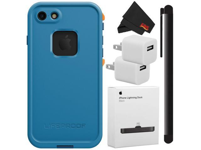 best sneakers f7a94 f7d62 LifeProof Iphone 7 Case Fre Base Camp Blue + Lightning Dock and Cleaning  Accessory Kit - Newegg.com