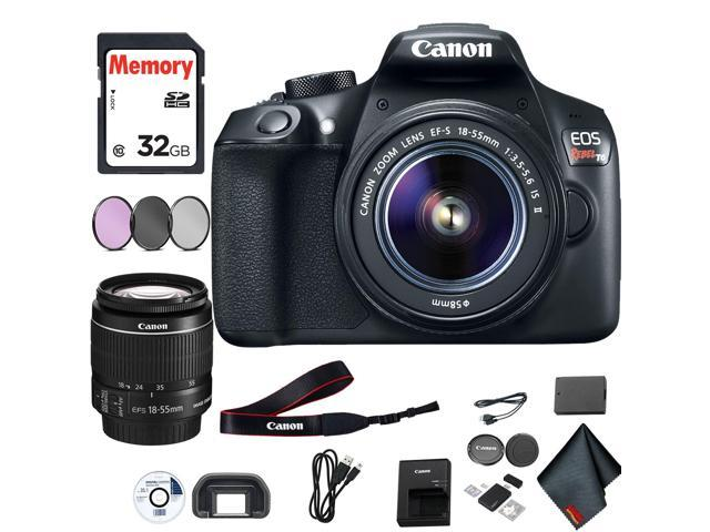 Canon Eos Rebel T6 Dslr Camera With 18 55mm Lens 32gb Memory Card Filter Kit Battery Starter Package