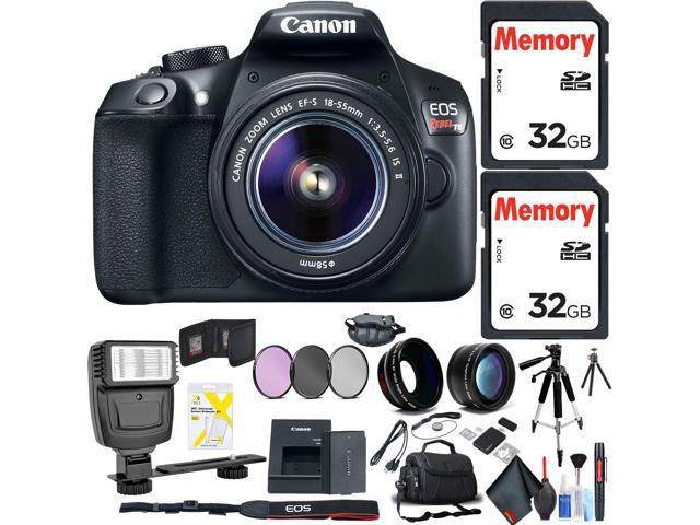 Canon Eos Rebel T6 Dslr Camera With 18 55mm Lens Flash Two Memory Cards Bag Cleaning Kit And More Accessories Combo Kit