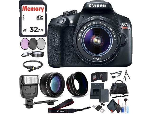 Canon Eos Rebel T6 Dslr Camera With 18 55mm Lens Memory Card Flash Bag Battery And Cleaning Kit