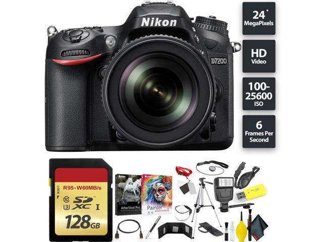 f348ef6c2 Nikon D7200 DSLR Camera (Body) + 128GB Memory Card Base Combo Intl Model
