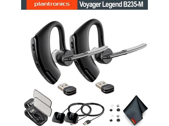 aa3261de8f8 Plantronics Voyager Legend B235-M UC Mobile Bluetooth Headset 2 Pack Bundle