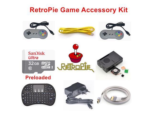 Raspberry Pi 3 Model B 32GB Preloaded RetroPie Game Console Accessories Kit  - Newegg com