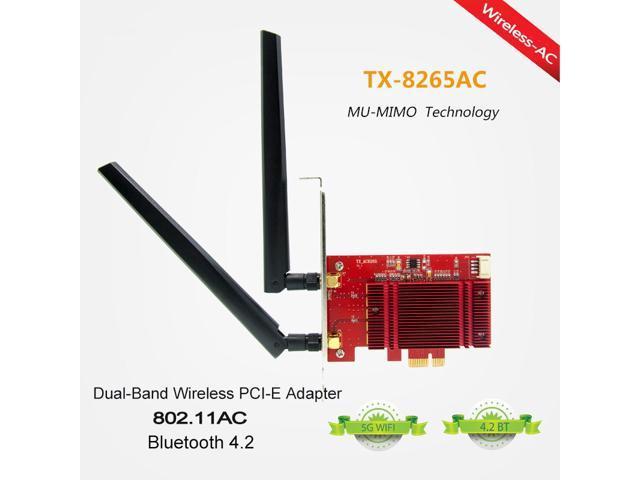 Intel 8260 Chip 802.11AC MU-MIMO PCI-E Wireless Adapter AC1200 Bluetooth 4.2