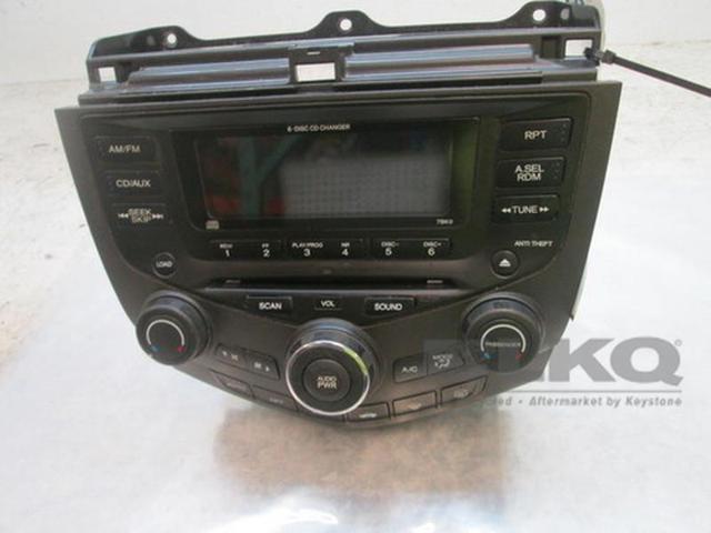 2003 Honda Accord 4dr Oem 6 Disc Cd Player Radio 7bk0 Cq Eh1260z Lkq
