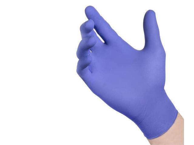 Small Nitrile Exam Gloves - Medical Grade, Powder Free, Latex Rubber Free, Disposable, Non Sterile, Food Safe, Indigo / Purple color, Convenient Dispenser Pack of 100