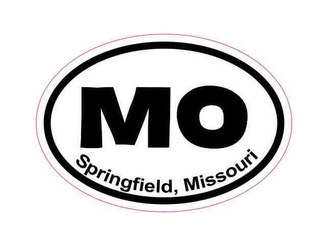 3in x 2in oval springfield missouri sticker vinyl luggage travel