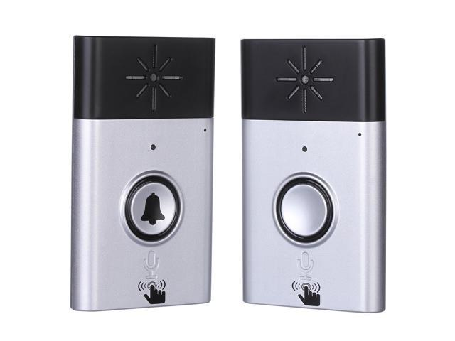 Wireless Voice Intercom Doorbell, Adv One Portable Door Bell Chimes With 1  Push Button