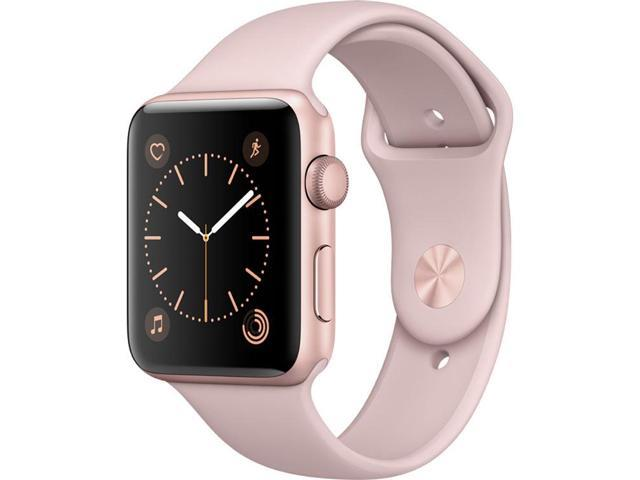 new concept 7c79a 5fe6c Refurbished: Apple Watch Series 2 42mm Rose Gold Aluminum Case with Pink  Sand Sport Band - Newegg.com