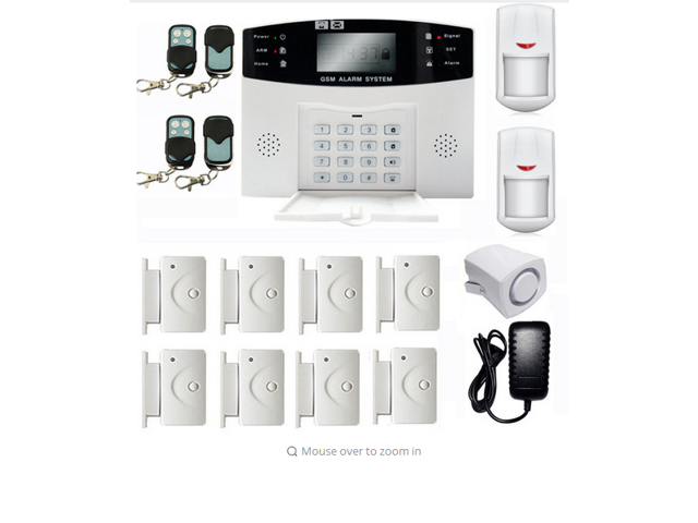 GSM 108 Zones Wireless /& Wired Voice Home Alarm Security System LCD Auto Dialer