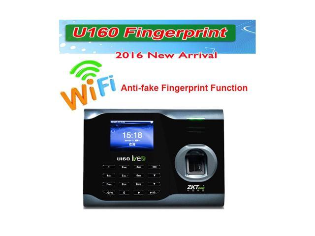New Zksoftware Bio Office U160 Employee Entry Biometric Fingerprint Time  Attendance System Punch Clock 3 Inches Color TFT Screen TCP/IP Ethernet  Ports
