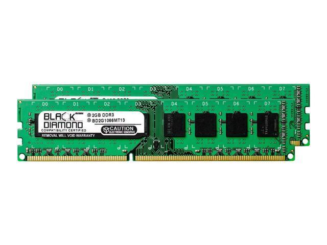 4GB 2X2GB RAM Memory for Dell OptiPlex 780 (Ultra Small Form Factor ) DDR3  DIMM 240pin PC3-8500 1066MHz Black Diamond Memory Module Upgrade -