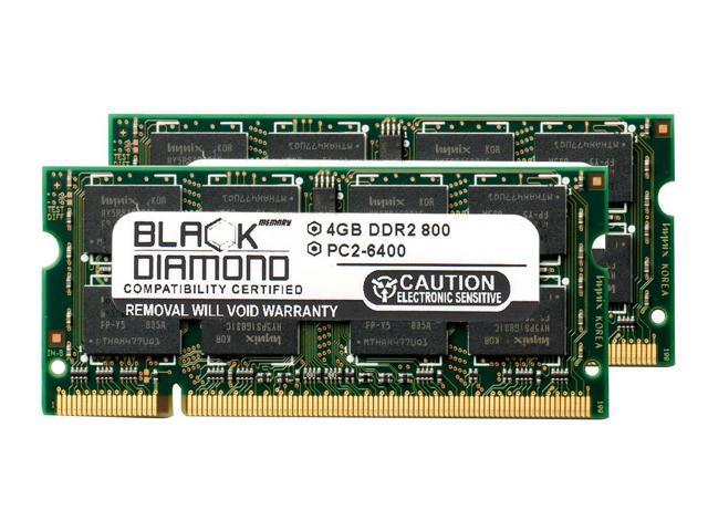 8GB 2X4GB Memory RAM for Dell Vostro Laptop 1720 200pin 800MHz PC2-6400  DDR2 SO-DIMM Black Diamond Memory Module Upgrade - Newegg com