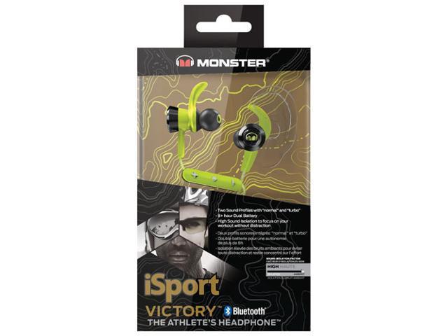 327c098c9e5 Monster iSport Victory In-Ear Bluetooth Wireless Headphones - Multilingual  - Green