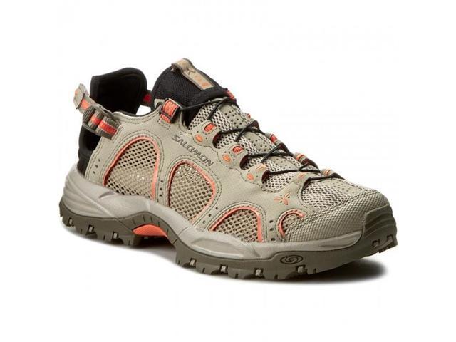 5cc1265e065 Salomon Women's Techamphibian 3 Water Shoe, Vintage Khaki/Bungee/Living  Coral, 10 - Newegg.ca