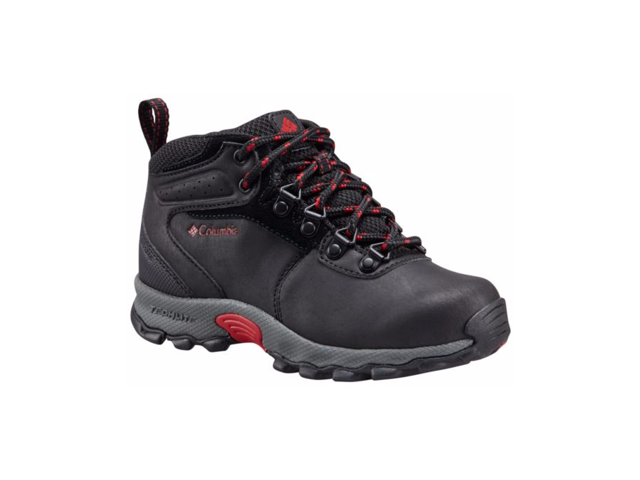 1f870a28455 Columbia Youth Newton Ridge Waterproof Hiking Boot, Black, Mountain Red, 6  - Newegg.ca