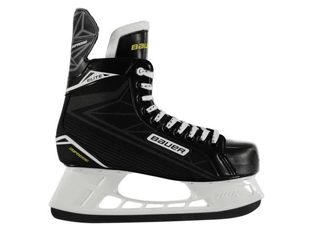 Bauer Mens Supreme Elite Ice Hockey Skates Stainless Lace Up Lightweight Shoes
