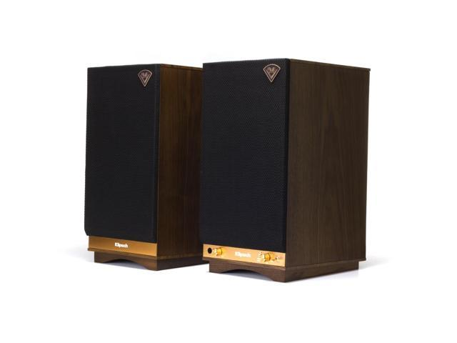 Klipsch The Sixes 1063287 Powered Bookshelf Speakers Walnut With Bluetooth And Built