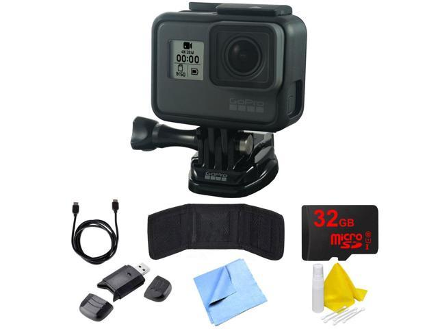 GoPro HERO6 Black Action Camera with Essential Accessory Bundle