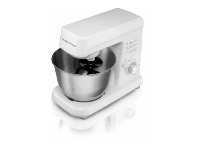 Hamilton Beach 300W 6 Speed 3.5 Quart Countertop Stand Mixer, White | 63329