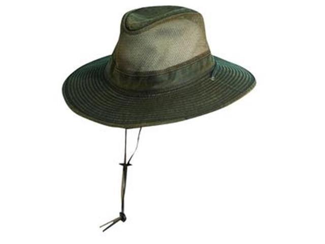 Dorfman Pacific MC152-BRN5 Mens Dpc Outdoor Design Weathered Cotton Safari  Hat 0c060f2e613