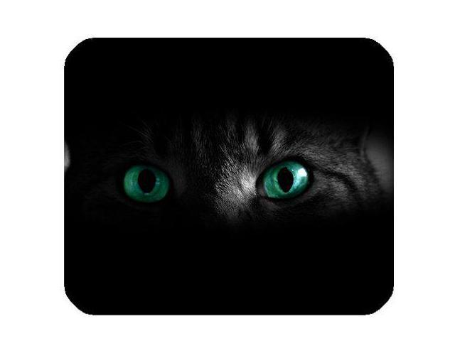 Green Eyes Of Cat Mousepad Personalized Custom Mouse Pad Oblong