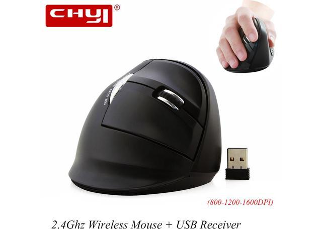 7103137a4a2 CHYI 2.4G Wireless Ergonomic Mouse 1600 DPI Optical Computer Mouse Non-slip Vertical  Mice