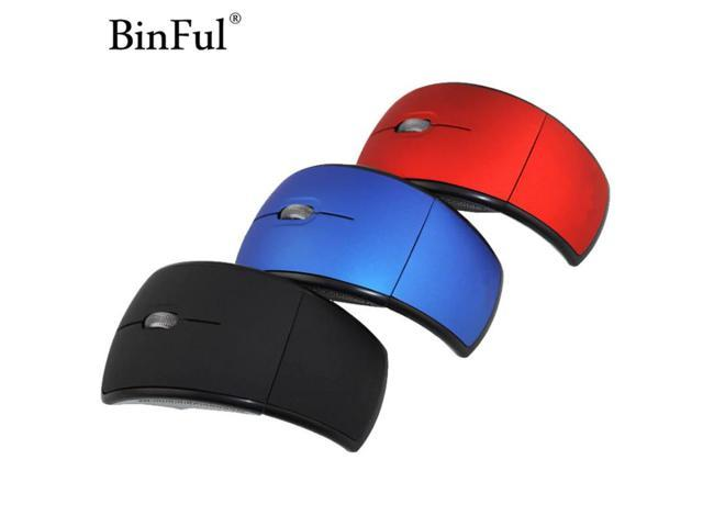 b54d299bc93 BinFul Mini USB 2.4G Wireless USB Optical Foldable Arc Mouse Snap-in  Transceiver Portable