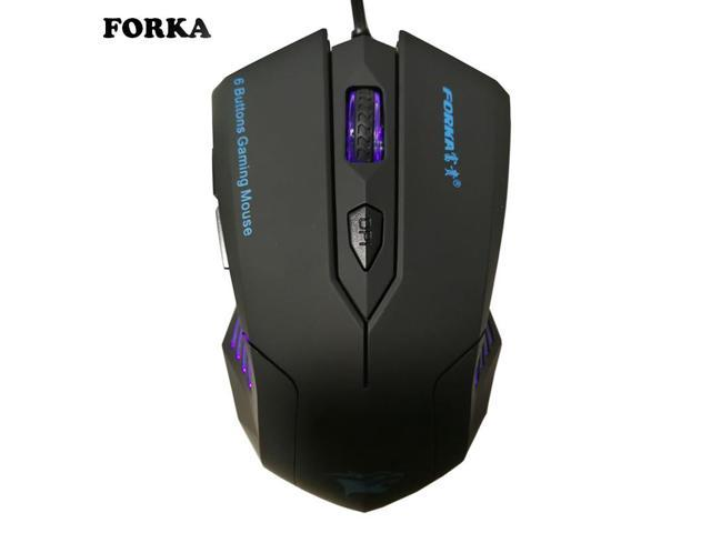 Silent Frosted Ergonomics 2400dpi Adjustment USB 6D Wired Optical Computer Gaming Mouse Mice for Computer PC