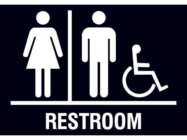 Strange Family Restroom Handicap Accessible Horizontal Bathroom Black Sign 6 Pack Newegg Com Download Free Architecture Designs Xaembritishbridgeorg