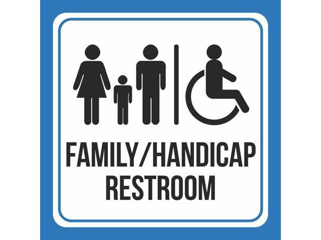 Incredible 4 Pack Aluminum Family Handicap Wheelchair Bathroom Restroom Public Notice Square Sign 12X12 Newegg Com Download Free Architecture Designs Xaembritishbridgeorg
