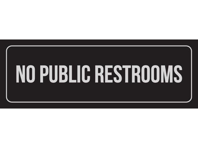 3x9 Inch Single iCandy Combat Black Background with Silver Font Restroom Office Business Retail Outdoor /& Indoor Plastic Wall Sign