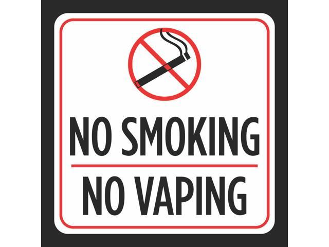 graphic relating to Printable No Smoking Signs named 6 Pack - Aluminum No Smoking cigarettes No Vaping Print Purple White Black Cigarette Smoke Think about Park Window Office environment Indicators, 12x12 -
