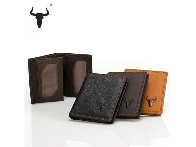 ddb90c281aea Top Grain Leather Black Short Mini Wallets Mens Women Unisex Vintage Wallet  Cowhide Mini Purse Zipper Pocket Card Photo Holder - Newegg.com
