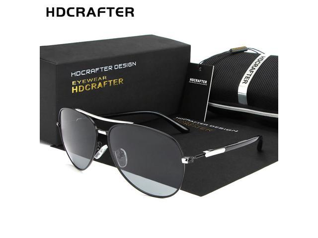 7c1b424a4ce HDCRAFTER Sunglasses Men Polarized Driving Eyewear Mens Sunglasses Brand  Designer Coating Mirrored Sun glasses