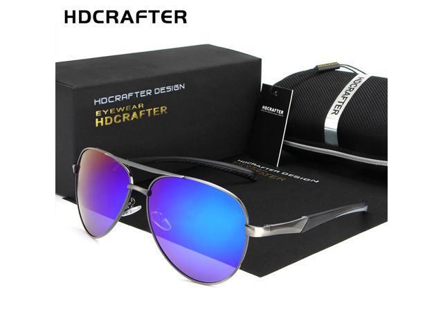 acb31f98574 HDCRAFTER Brand Designer Mens Sunglasses Metal Frame Polarized Lens Sun  Glasses for Driving Men Eyewear