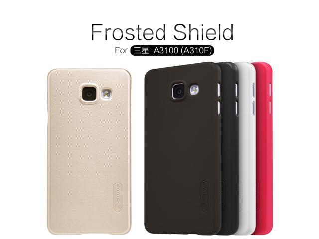Nillkin Frosted Shield Cell Phone Case For Samsung Galaxy A3 2016/A3 6/A310/A310F/A3100 Back Cover Case Screen Protector