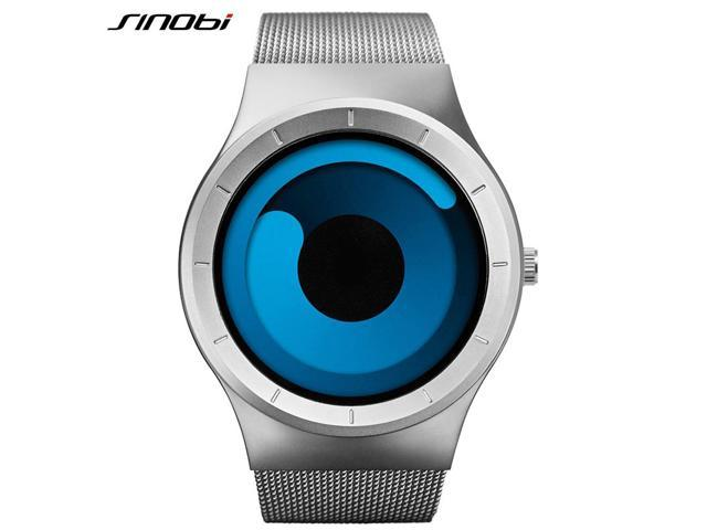 2764e3fdbe4 SINOBI Mens Watches Top Brand Luxury 2017 Stainless Steel Mesh Strap Quartz  Watch Men Fashion Aurora