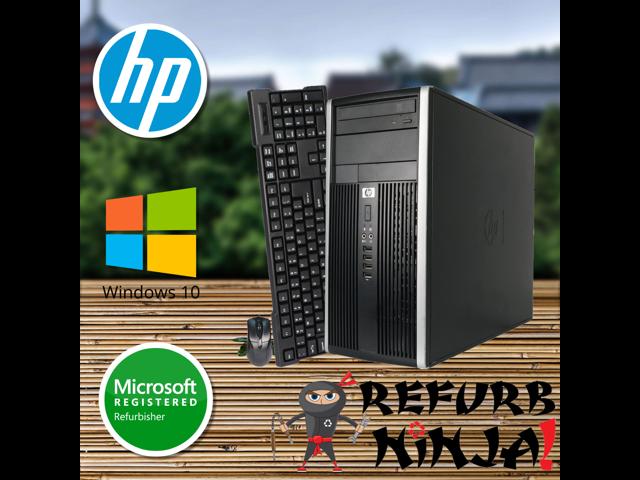 HP Compaq Elite 8200 Tower Computer, Intel Quad-Core i5-2400 (3 10GHz), AMD  Radeon HD 7470 1GB Graphics Card, 8GB RAM, 500GB HDD, DVD, Windows 10 Pro